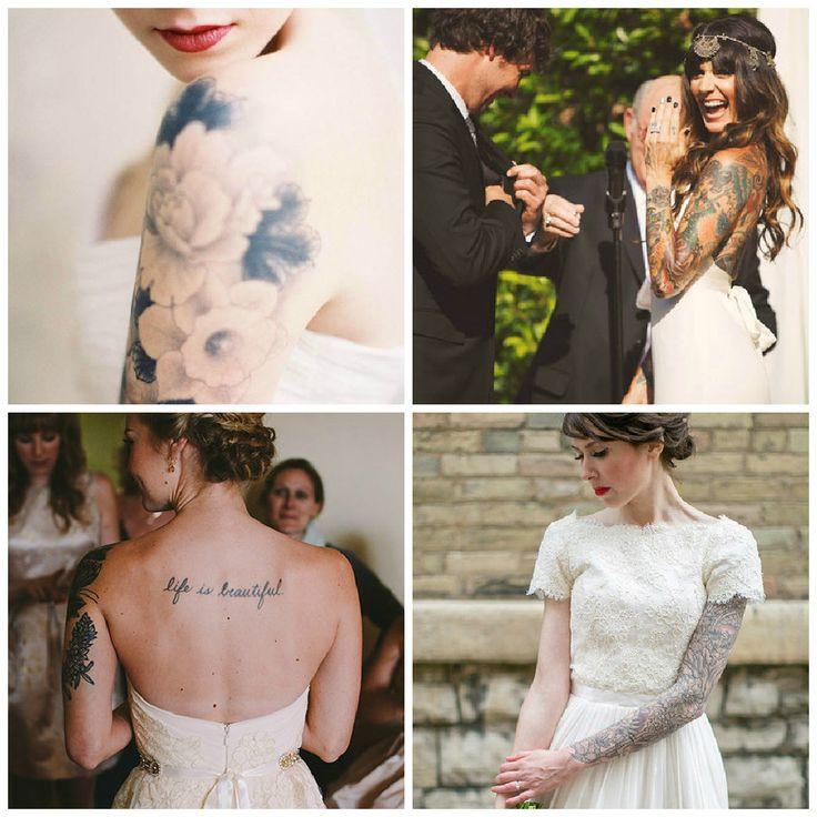 Nos encantan lo hermosas que pueden verse las novias tatuadas... Qué opinan ustedes?    ///   Loving tattooed brides!.. What do you think?