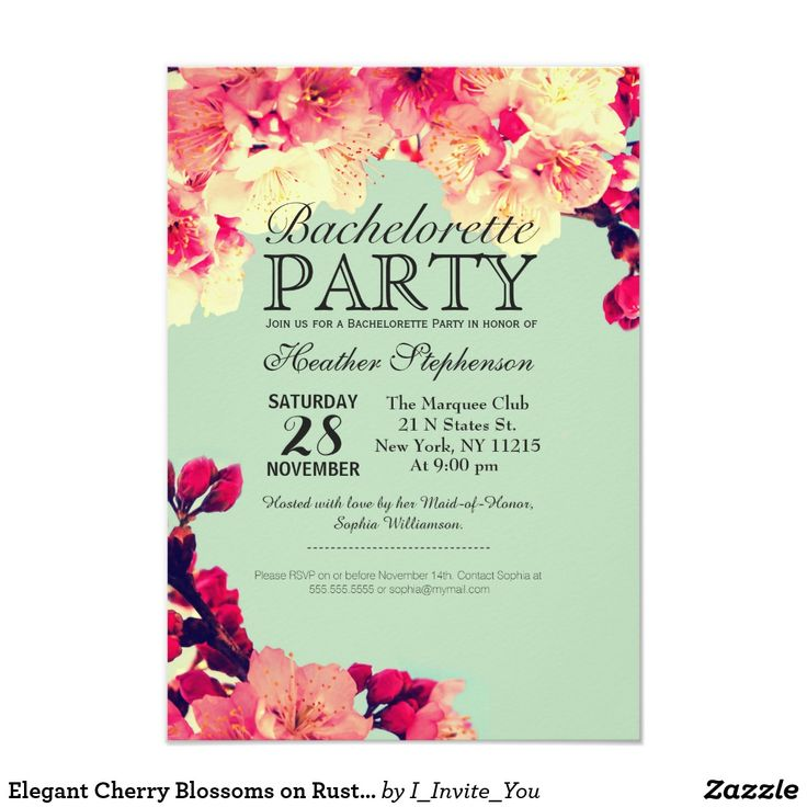 zazzle wedding invitations promo code%0A Elegant Cherry Blossoms on Rustic Teal Card