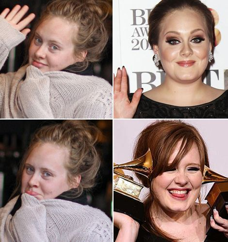 Gotta say... If I met Adele on the street without her trademark eyeliner? I wouldn't know who she was.