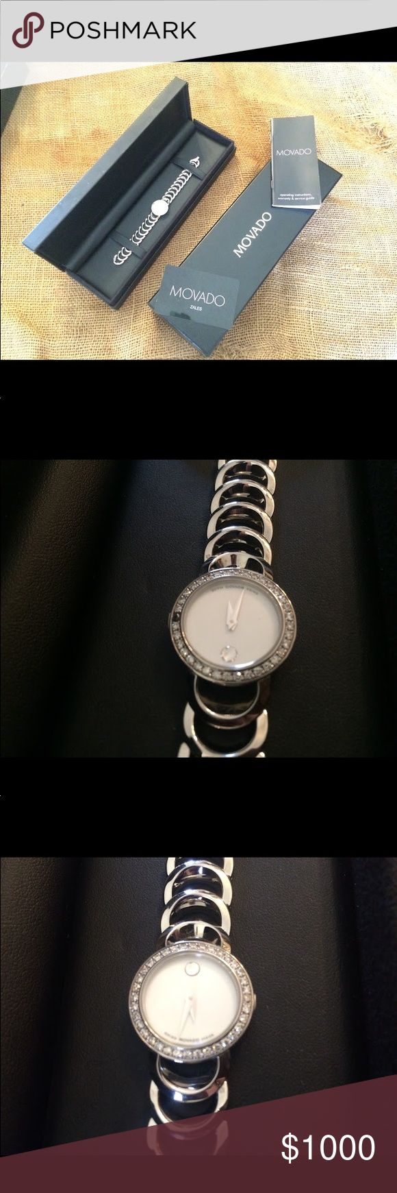 Movado watch. New with original box. Never worn Beautiful movado watch! This has never been worn and is still in its original box. Movado Accessories Watches