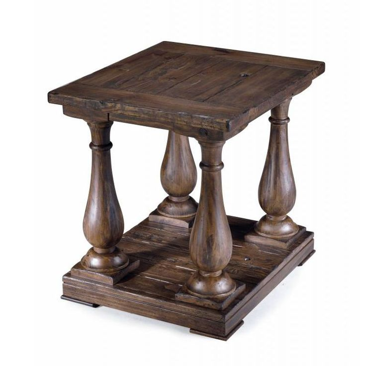 This Unique End Table Is Beautifully Crafted From Luxurious Pine Wood. This  Rustic Table Is