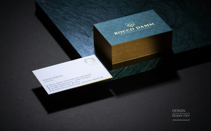 » business card for Rocco Damm « design by Romy Fey