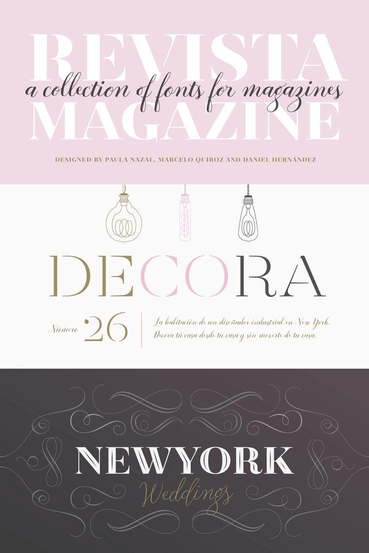 Revista Webfont Desktop Font Myfonts Revista Magazine Moda Fashion Design Layout