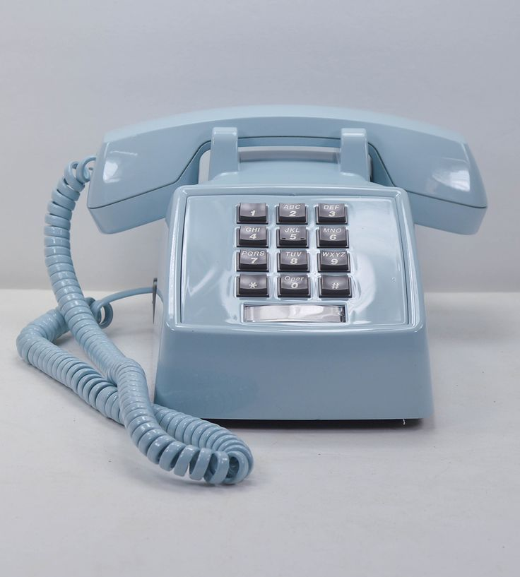 Vintage Desk Telephone - Sky Blue. You know you're old when you had this model in your home growing up, but it was in cream.