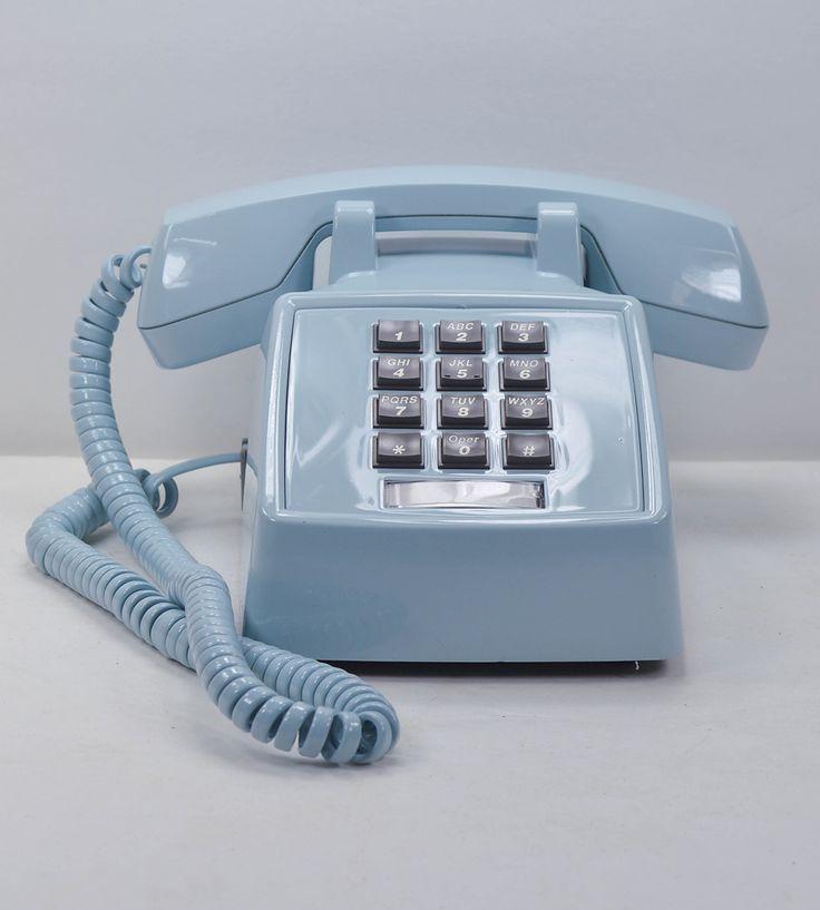 Vintage Desk Telephone - Sky Blue