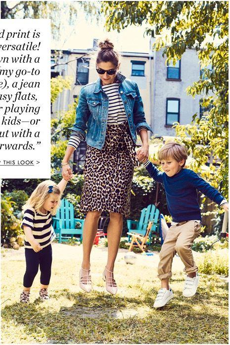 J.Crew leopard print skirt