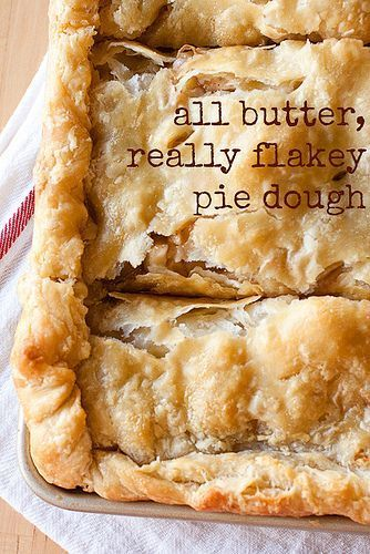 The secret to flaky pie dough? Butter! All Butter, Really Flaky #Pie Dough recipe                                                                                                                                                                                 More