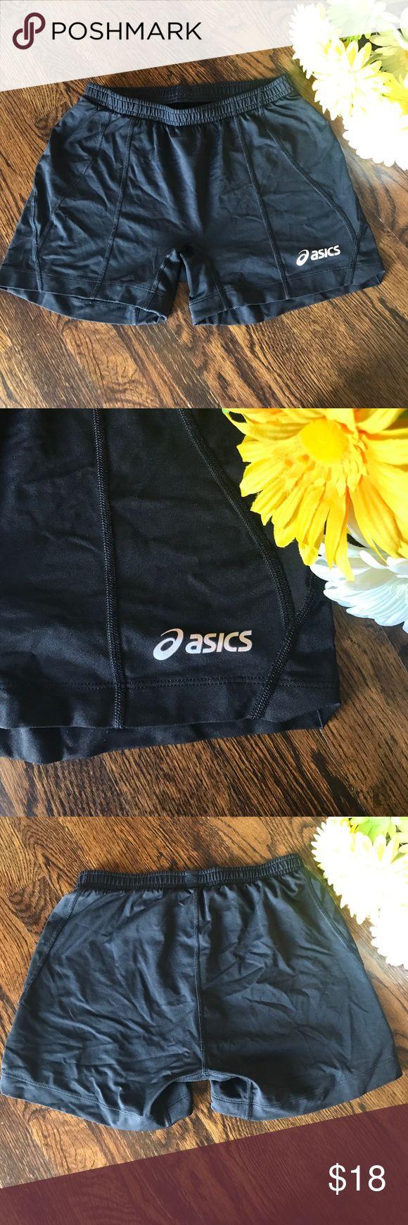 Asics Spandex Running Shorts, Sz M Black Asics spandex running shorts. Size Medium. Asics Shorts