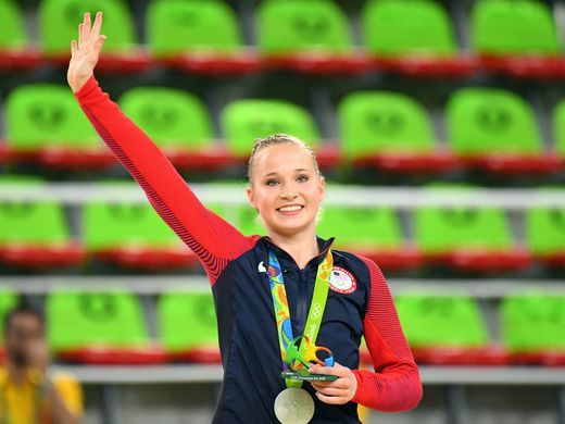 Madison Kocian captured silver in the women's uneven