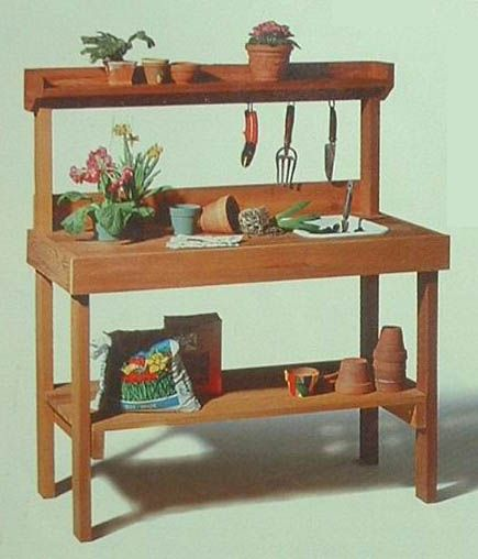 Potter's Bench - Beautiful & Durable Cedar