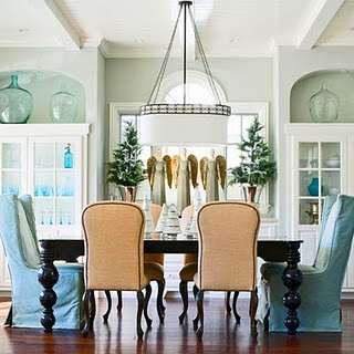 Crisp: Angel, Dining Rooms, Beaches House, China Cabinets, Color, Casual Dining, Traditional Home, Custom Cabinets, Coastal Christmas