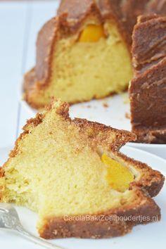 Fluweel zachte perzik cake