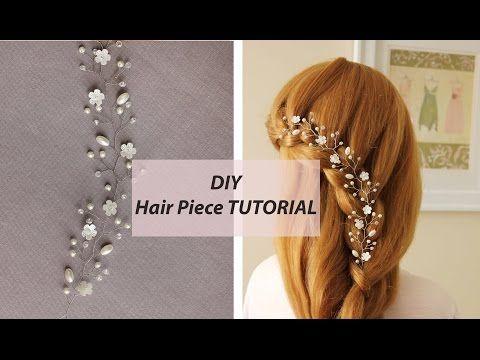 EASY Tutorial Hair Vine Tiara Headband Bridal Hair Accessory - YouTube