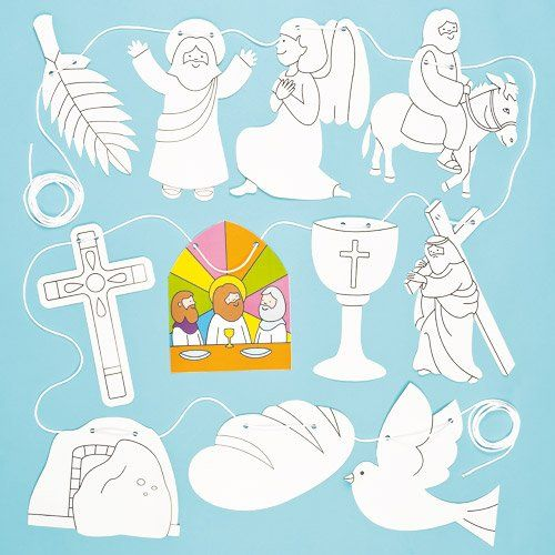 Holy Week Decorate Your Religious Easter Banner