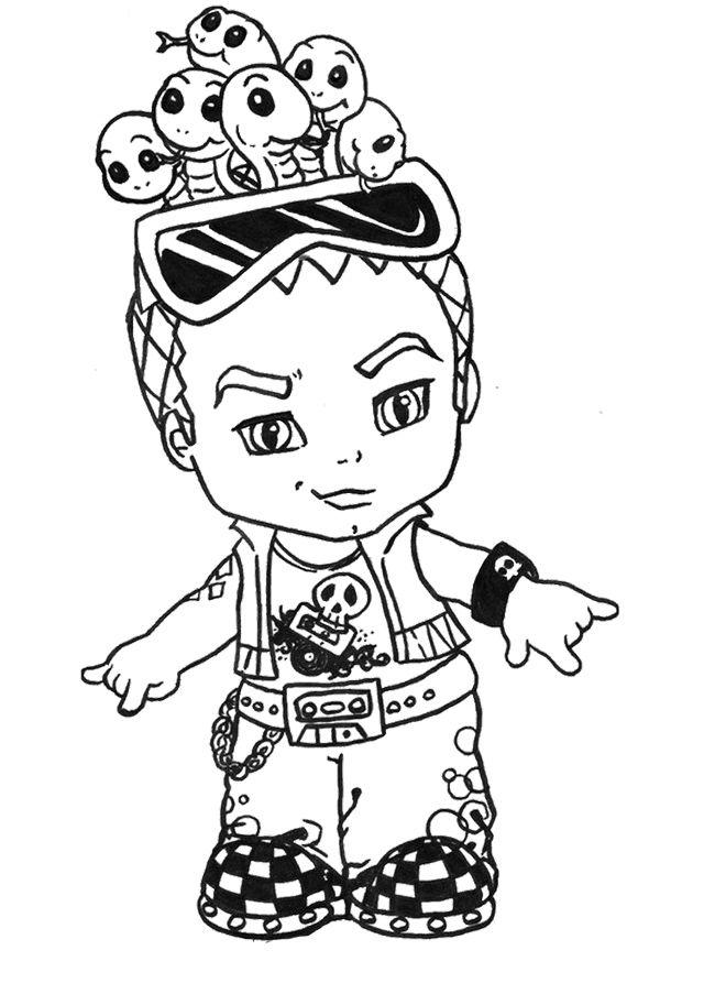 chibi deuce gorgon coloring page