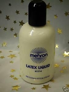 Mehron ~ Liquid Latex  ~ Rubber Milk ~ Effects  Make-up ~ 133ml