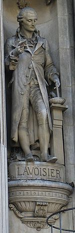 Statue of Lavoisier, at Hôtel de Ville, Paris