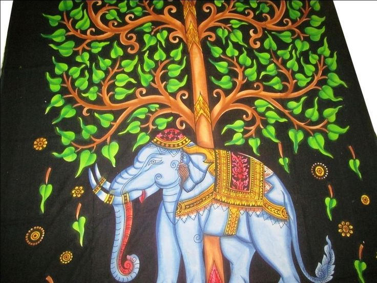 "Indian Mandala Tree of Life ELEPHANT Twin ""Wall Hanging Tapestry"" Throw Bedding #Handmade"