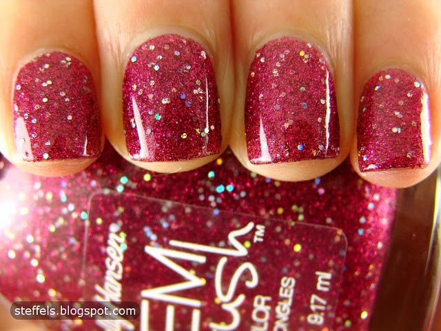 Sally Hansen Gem Crush Collection -Lady Luck.  So pretty and just in time for V-Day♥