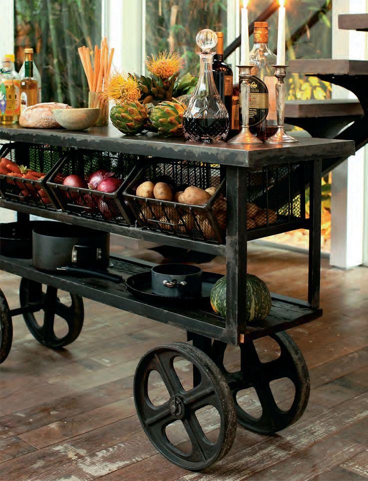 (http://www.zinhome.com/industrial-rolling-kitchen-cart/)