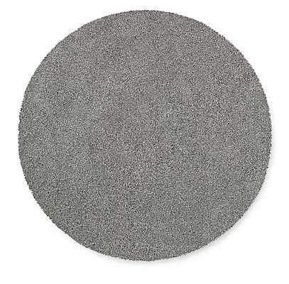 Arden Low Shag 5' diam Round Rug in Ivory/Black - Solid - Rugs - Room & Board