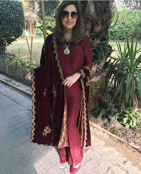 Pakistani outfit by Maheen Ghani Taseer.