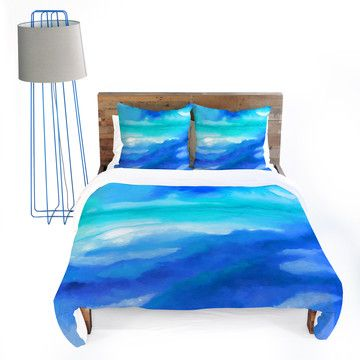 Ocean waves bedding great for the second bedroom to give it some color home pinterest - Bed room color for girls ...