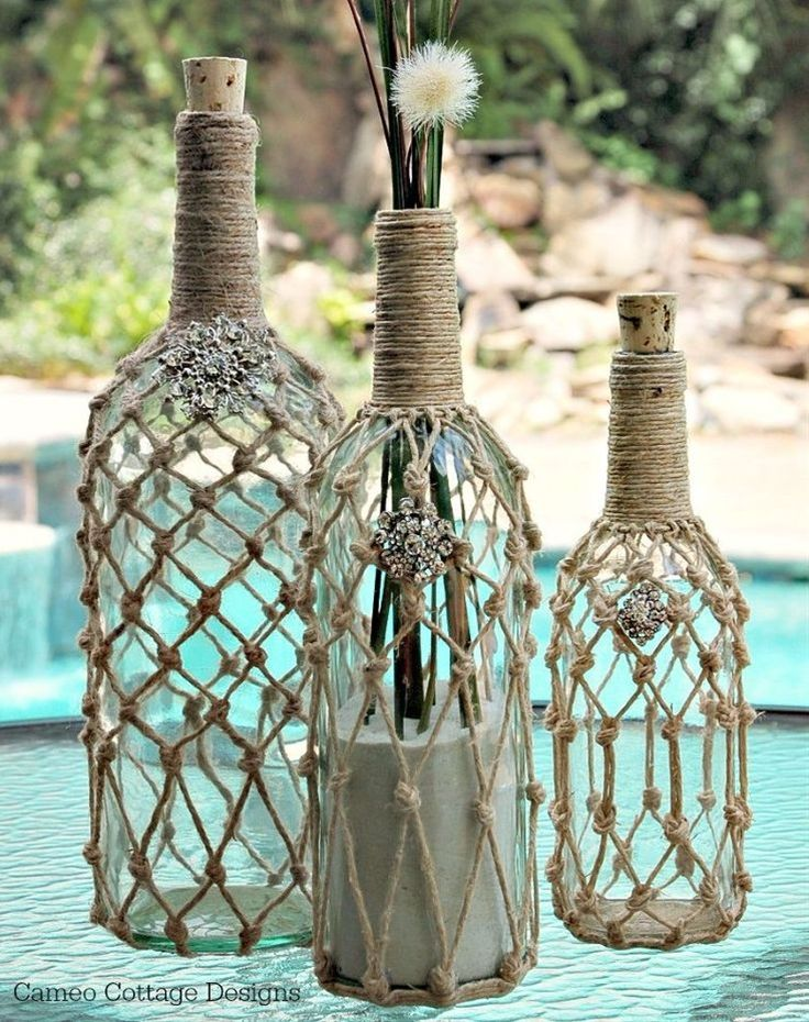 I love recycling bottles- no idea why but there are many things you can do with them and uses for them too. These are going to be used in my beachy de