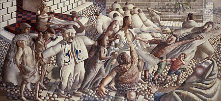Stanley Spencer, Christ Delivered to the People, 1950, Oil
