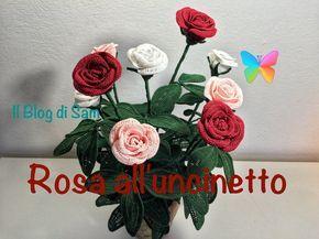 Spiegazione della Rosa all'uncinetto