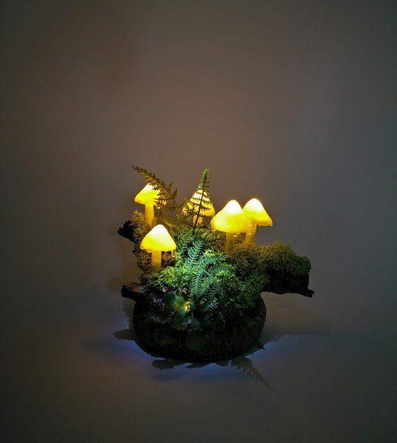 Pilz Lampe Licht Dekoration Nacht Licht Led Handgemacht