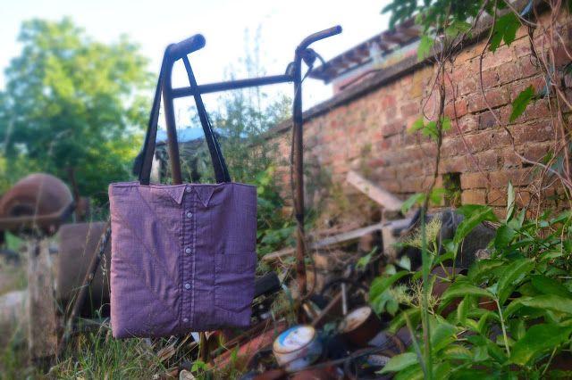 DIY- torba z koszuli. DIY- bag made of shirt