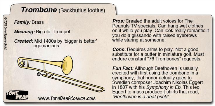 Hehe, trombones for life! I have no shame!
