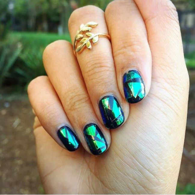 DIY Broken Glass Nails