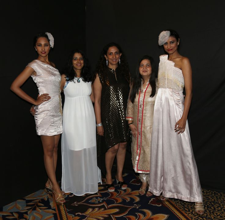 Namrata Shetty, Divya Jaitly, Aparna Garg, Fakhera Jadliwala and Surabhi Rao at SNDT-AMD's Chrysalis fashion show