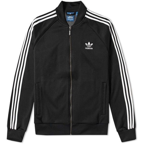 Adidas Superstar Track Top ($79) ❤ liked on Polyvore featuring men's fashion, men's clothing, men's activewear and men's activewear jackets