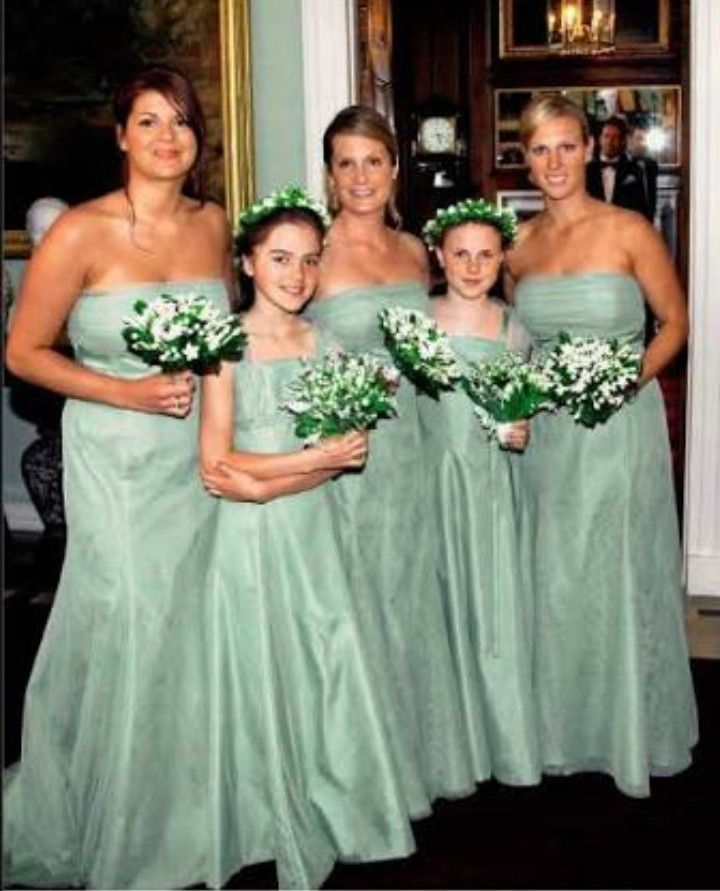 Zara Phillips: Bridesmaid at the wedding of Peter Phillips ...