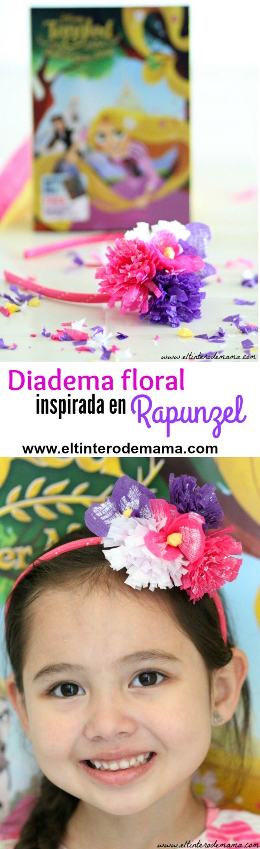 Checa este #tutorial para hacer una diadema floral inspirada en #Rapunzel y participa en el #sorteo de 2 #Disney DVD's de #TangledBeforeEverAfter #Tangled: http://wp.me/p54459-37J #DIY