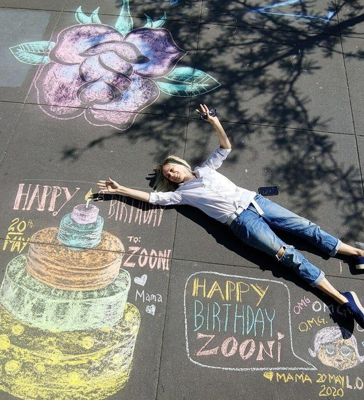 Sidewalk Chalk Birthday Greetings in 2020 Birthday