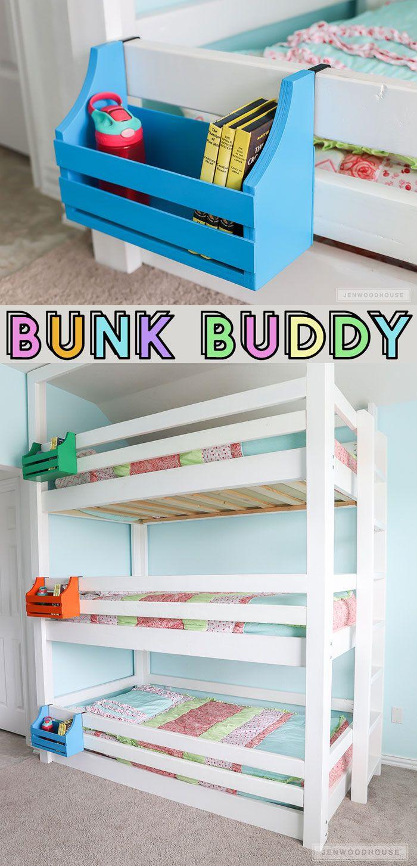 Diy Bunk Buddy Bunk Bed Shelf Diy Bunk Bed Bunk Bed Shelf