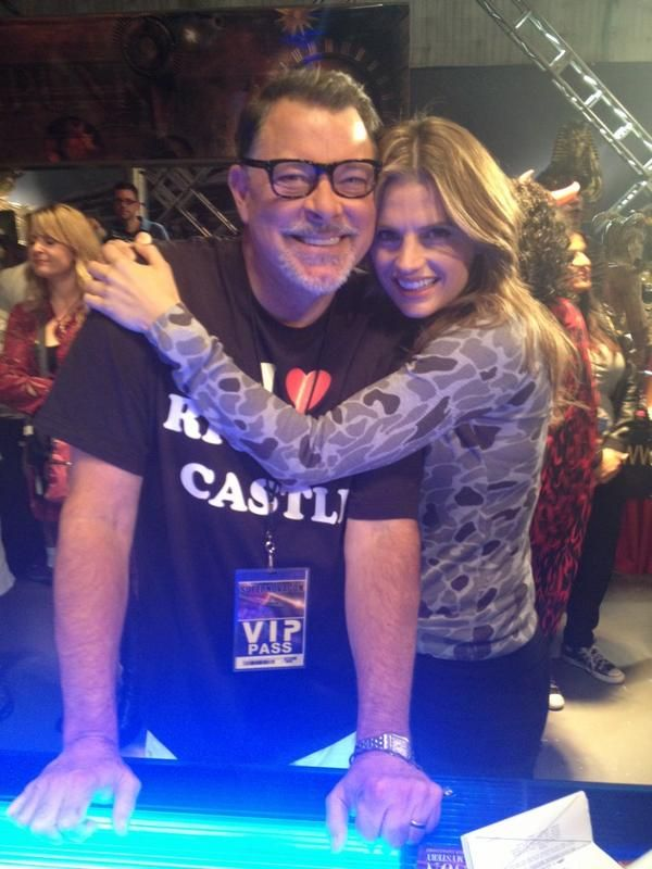 "Stana Katic with Castle ""The Final Frontier"" Episode Director Jonathan Frakes"