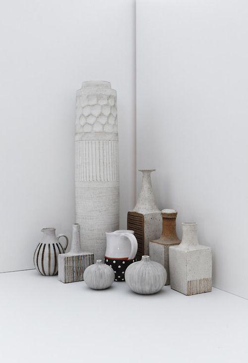 grouped ceramics ...