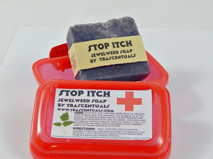 Stop Itch Poison Ivy Soap With Jewelweed Oil Removes Urushiol From Poison Ivy Oak and Sumac Helps With Insect Bites and Stings by TRASCENTUALS on Etsy