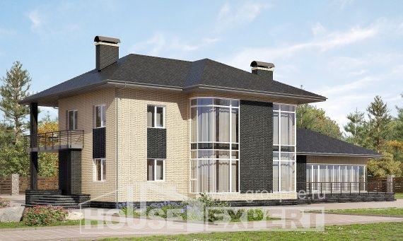 305-003-L Projekt domu dwukondygnacyjnego, duży dom z bloków betonu keramzytowego, Górnicza