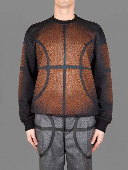 GIVENCHY ALL OVER CREWNECK BASKETBALL PRINTED SWEATER