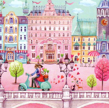 Square card by Mila Marquis por MarquisWonderland en Etsy