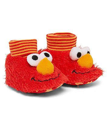 Sesame Street Elmo Booties