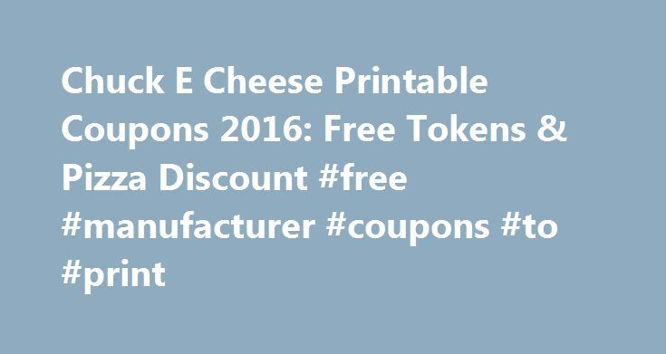 "Chuck E Cheese Printable Coupons 2016: Free Tokens & Pizza Discount #free #manufacturer #coupons #to #print http://coupons.remmont.com/chuck-e-cheese-printable-coupons-2016-free-tokens-pizza-discount-free-manufacturer-coupons-to-print/  #e coupons # Chuck E Cheese Coupons, Free Tokens Coupon ""A blast for kids! This is the place where kids can be kids and just have a real fun day. Coupons are aplenty to save you some money on token and food purchases. Lots of games to play that dispense. "" ""A…"