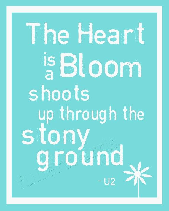 U2 Beautiful Day lyrics  5x7 8x10 or 11x14 digital by fullerwords