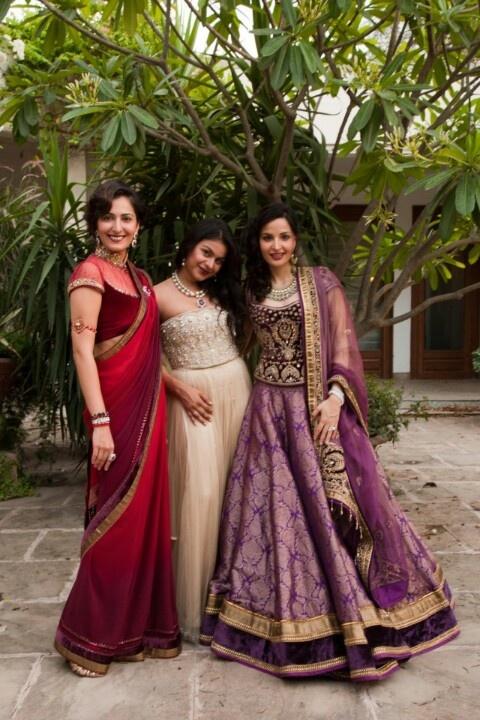 A Tarun Tahiliani trio.